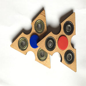 Superior Quality Triangle Wood Tri-Spinner Fidget Spinner - Goamiroo Store
