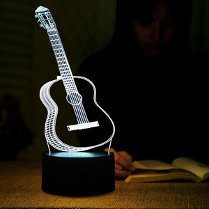 Beautiful 3D Effect Guitar Shape 3D Led Lamp - Goamiroo Store