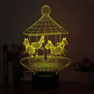 Merry-Go-Round Night Lamp 3D Led - Goamiroo Store