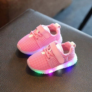 3 Styles Colorful Light Up Breathable Luminous Kid Shoes - Goamiroo Store