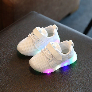 3 styles Colorful Light Up Breathable Luminous kid Shoes-GoAmiroo Store