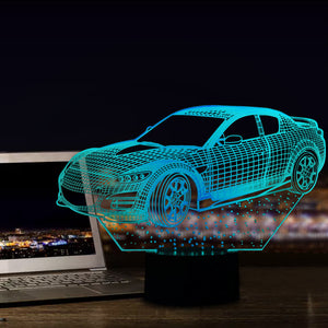 Car Model 3D Led Lamp - Goamiroo Store