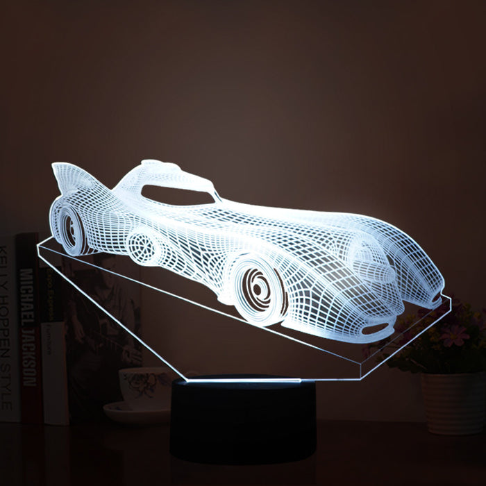 Racing Car Model shape 3D LED Lamp