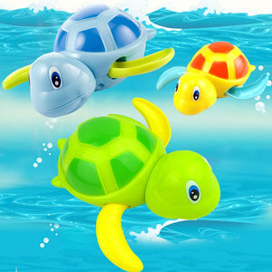 Tortoise Baby Bath Toy Infant Swim Turtle Chain Clockwork - Goamiroo Store