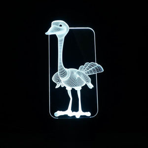 Lovely Ostrich 3D Led Lamp - Goamiroo Store