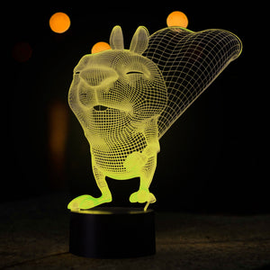 Squirrel Pattern 3D Led Lamp - Goamiroo Store