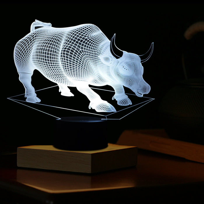 Bulls shape 3D LED Lamp