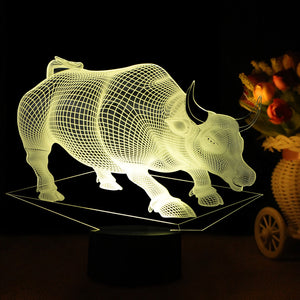 Bulls Shape 3D Led Lamp - Goamiroo Store