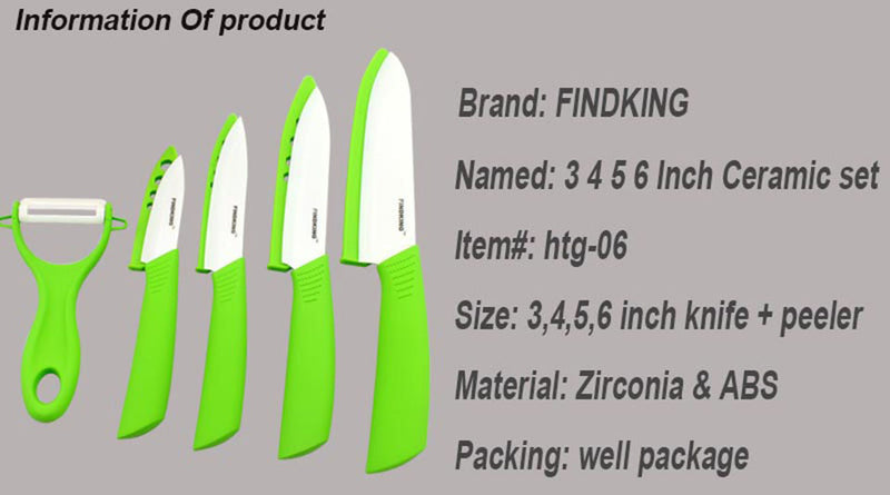 "Ceramic Knife Findking® Set 3"" 4"" 5"" 6"" inch-GoAmiroo Store"