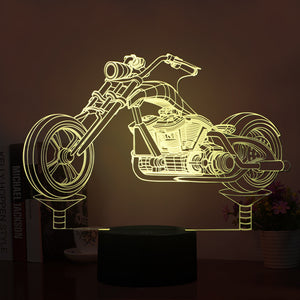 Motorcycle Model Shape 3D Led Lamp - Goamiroo Store