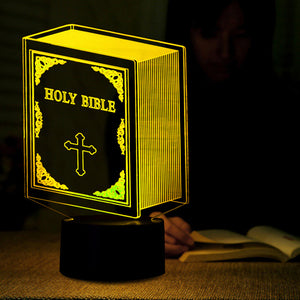 Bible Book Shape 3D Led Lamp - Goamiroo Store