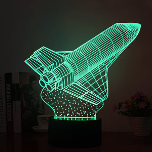Rocket Shape 3D Led Lamp - Goamiroo Store