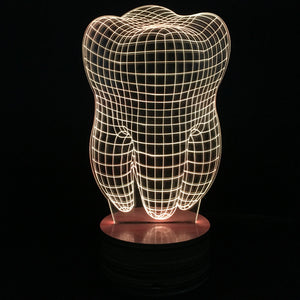 Tooth Shape 3D Illusion Led Lamp - Goamiroo Store