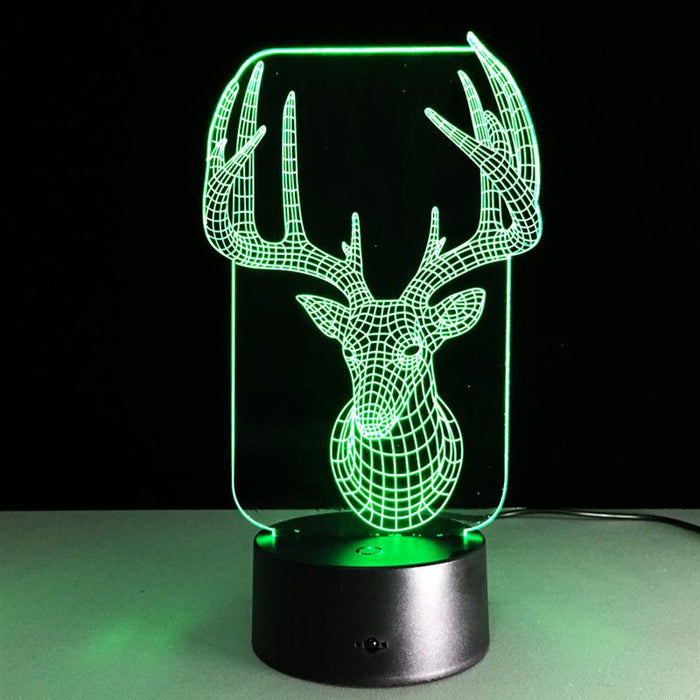 Chrismas Elk 3D LED Lamp