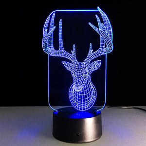 Chrismas Elk 3D Led Lamp - Goamiroo Store