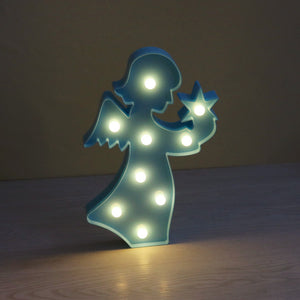 Marquee Angel Sign Led Night Light - Goamiroo Store