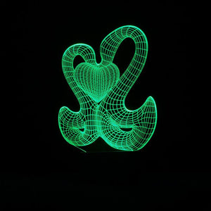 Swan Heart Shape 3D Led Lamp - Goamiroo Store