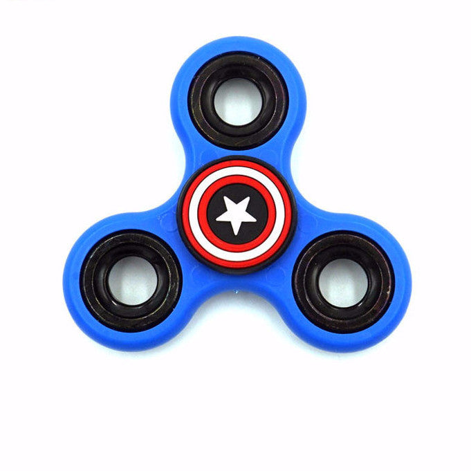6 color American captain style Plastic EDC Spinner Fidgets-GoAmiroo Store