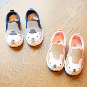 Cartoon Canvas Kids Casual Shoes Bear And Rabbit - Goamiroo Store