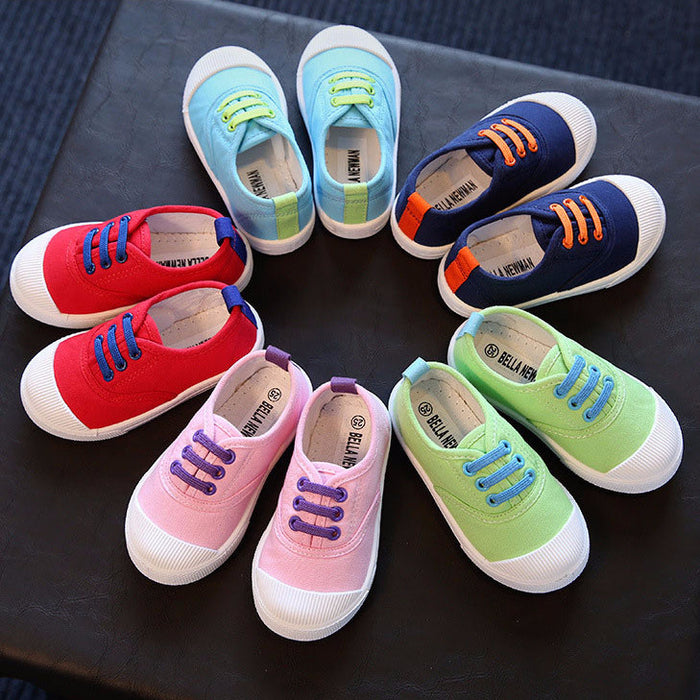 5 colors casual canvas anti-slippery kids Shoes