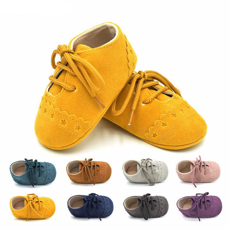 8 colors Comfortable suede Anti-Slippery kid shoes-GoAmiroo Store
