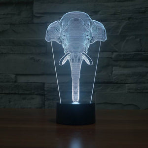 Elephant Shape 3D Led Lamp - Goamiroo Store