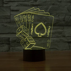 Poker And Sieves 3D Led Lamp - Goamiroo Store