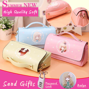 Kawaii Lovely Pu Leather Portable Pencil Bag Case For Girls Christmas Gift - Goamiroo Store