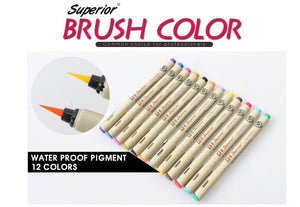 12Colors Drawing Artist Soft Brush Pen - Goamiroo Store
