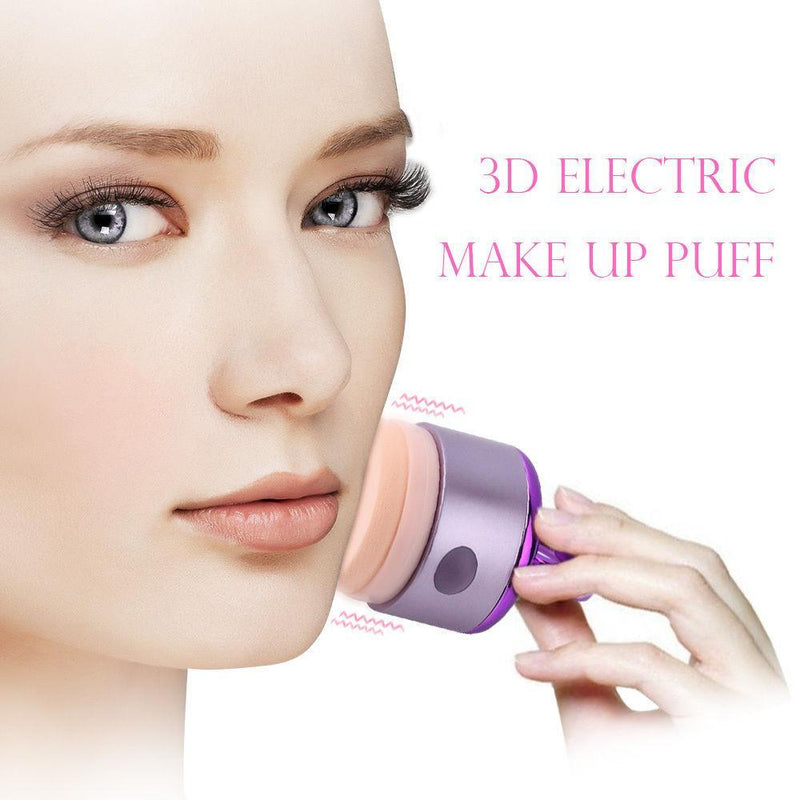 3D Tilting Electric Vibrating Foundation Makeup Applicator Puff