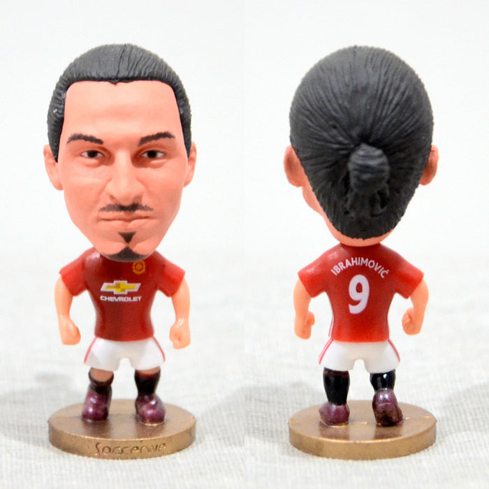 Football Player IBRAHIMOVIC #9 Manchester 2.5inch Action Figure