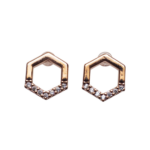 Rose gold invisible clip on earrings