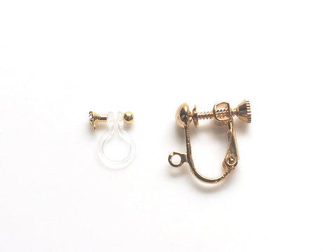 Comfortable and pierced look invisible clip on earrings MiyabiGrace3