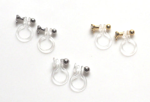Comfortable and pierced look invisible clip on earrings MiyabiGrace1