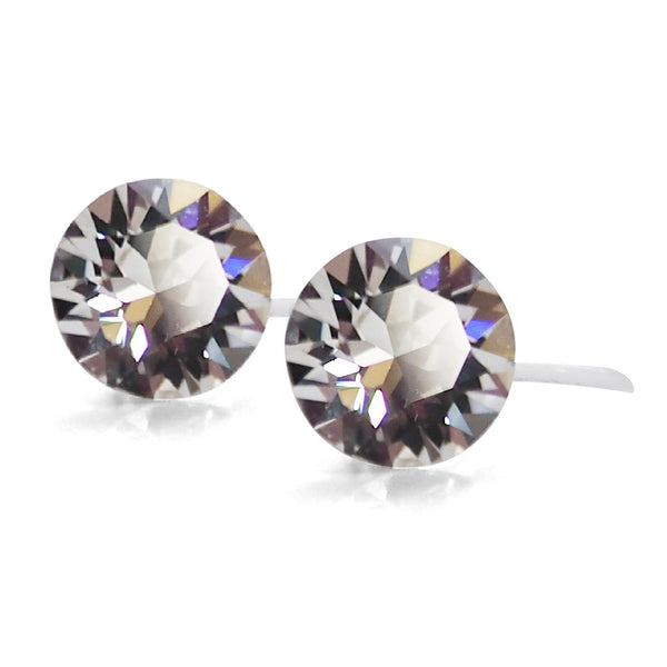 Swarovski crystal invisible clip on stud earrings