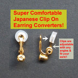 Comfortable clip angle adjustable clip on earring converters - Miyabi Grace
