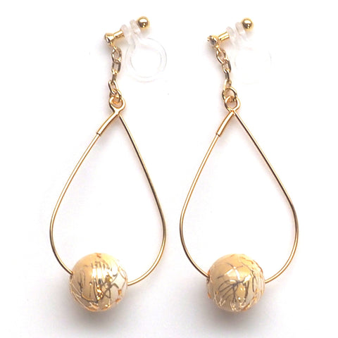 Karakusa invisible clip on earrings - Miyabi Grace
