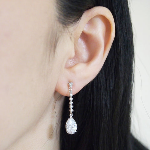 "<img src=""comfortable bridal wedding dangle drop silver cz crystal invisible clip on earrings MiyabiGrace11"" alt=""comfortable bridal wedding dangle drop silver cz crystal invisible clip on earrings MiyabiGrace11""/>"