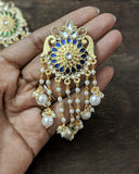 Flower pearl tassel earrings (Colours available) - Anicha
