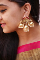 Petal jhumka earrings (Colours available) - Anicha