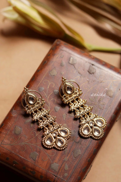 Teardrop step earrings - Anicha