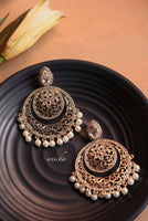 Filigree stone chandbalis - Anicha