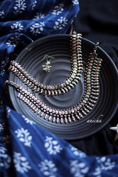 Oxidized silver necklace (Variants available) - Anicha