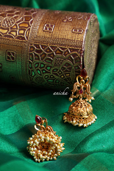 Antique gold coin jhumkas *PRE-ORDER* - Anicha