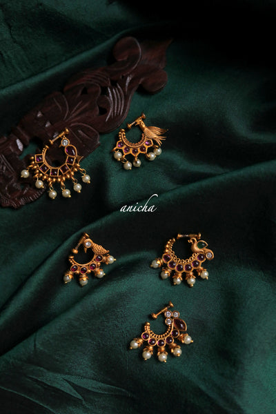 Clip-on gold nose rings - Anicha