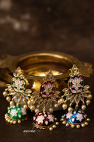 Flower enamel jhumkas (Colours available) - Anicha