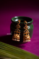 Layered emerald jhumkas - Anicha