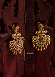 Gold bead stone chandbalis