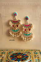 Chand drop earrings (Colours available) - Anicha