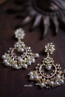 Kundan pearl chandbalis (Colours available) - Anicha